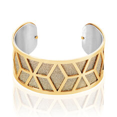 Bracelet Jonc Katy Acier Dore