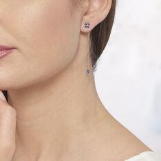 Boucles D'Oreilles Argent Rose Chessy Pendante - Boucles d'oreilles Pendantes Femme | Marc Orian