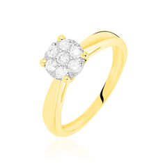 Solitaire Or Jaune Grace Et Diamant