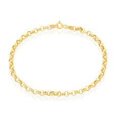 Bracelet Or Jaune Maille Jaseron - Bracelets mailles Femme | Marc Orian