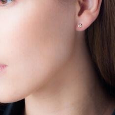 Boucles D'Oreilles Or Et Oxyde - Clous d'oreilles Femme | Marc Orian