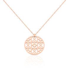 Collier Acier Rose Pastille Geometriques