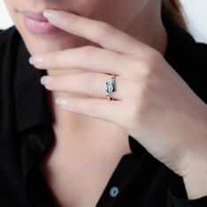 Bague Or Blanc Trilogie Diamants