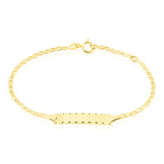 Bracelet Identite Bebe Or Jaune Estela