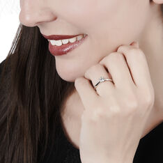 Solitaire Veronika Or Blanc Et Diamant