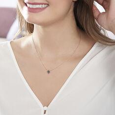 Collier Or Rose Laetia Etoile Diamants Noirs