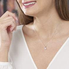 Collier Or Blanc Grace Et Diamant - Colliers Femme | Marc Orian