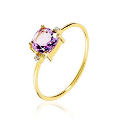 Bague Maelle Or Jaune Amethyste