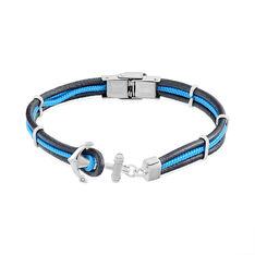 Bracelet Acier Penda Cuir