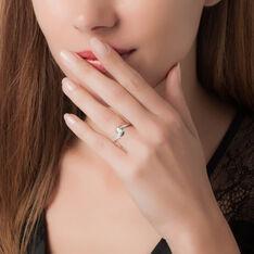 Bague Solitaire Melina Or Blanc Diamant
