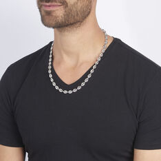 Collier Argent Maille Grain De Cafe