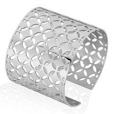 Bracelet Manchette Acier Yelda Motifs Geometriques