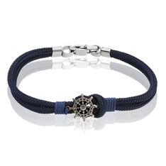 Bracelet Acier Gouvernail Acier Corde - Bracelets chaînes Homme | Marc Orian