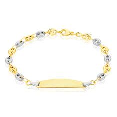 Bracelet Identite Bebe Or Bicolore Fabiana