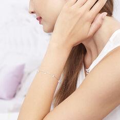 Bracelet Argent Rhodie Collie 7 Goutte Oxyde