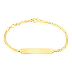 Bracelet Identite Bebe Or Jaune Euphenia