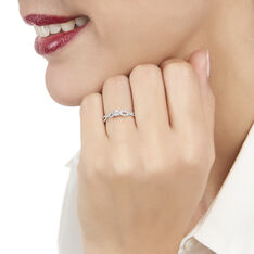 Bague Livia Or Blanc Croise Diamants