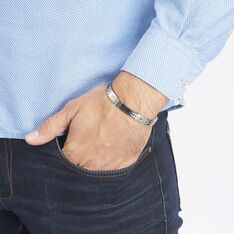 Bracelet Acier Alternes Carbone