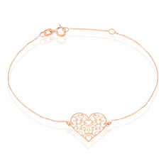 Bracelet Sahar Or Rose Coeur