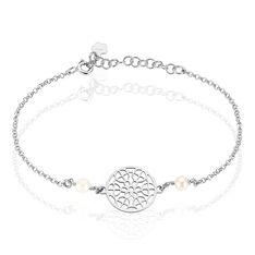 Bracelet Argent Rosace Celtique Perles