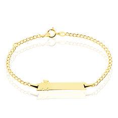 Bracelet Identite Bebe Or Jaune Enya