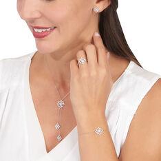 Bracelet Or Blanc Kaelia Fleur Oxydes
