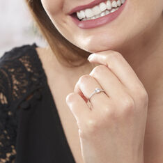 Bague Or Blanc Manon Oxyde De Zirconium