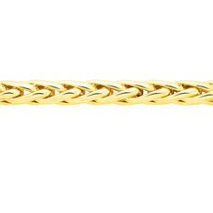 Collier Or Jaune Chute Maille Palmier