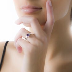 Bague Or Blanc Candice Amethyste