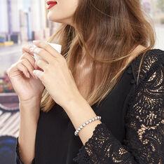 Bracelet Argent Rhodie Ciska Maille Boule - Bracelets chaînes Femme | Marc Orian