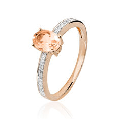 Bague Adele Or Rose - Bagues Solitaire Femme | Marc Orian