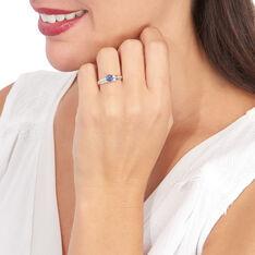 Bague Or Blanc Kate Saphirs Diamants