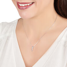 Collier Or Blanc Infini Et Diamants 42cm