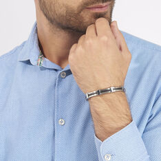 Bracelet Acier Resine - Bracelets chaînes Homme | Marc Orian