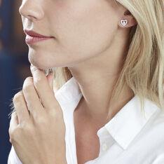 Boucles D'Oreilles Argent Rhodie Carren Puce Solitaire - Clous d'oreilles Femme | Marc Orian