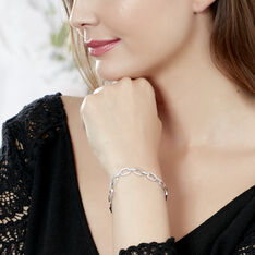 Bracelet Argent Rhodie Rava Oxyde