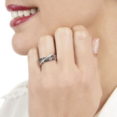 Bague Siracuse Or Blanc Et Diamants