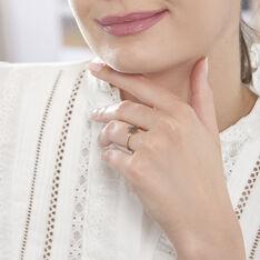 Bague Or Rose Laetia Etoile Diamants Noirs