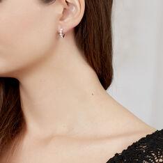 Boucles D'Oreilles Or Blanc Amareta - Boucles d'oreilles Créoles Femme | Marc Orian