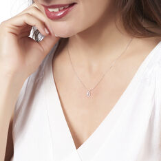 Collier Or Blanc Andrine Goutte Diamants