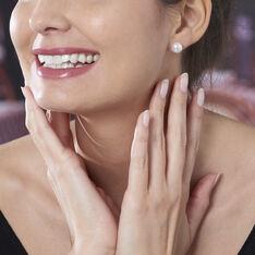Boucles D'Oreilles Puces Or Jaune Perle - Clous d'oreilles Femme | Marc Orian