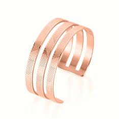 Bracelet Acier Rose Sirine Jonc 3 Rangs