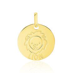 Pendentif Or Jaune Zodiaque Signe Lion