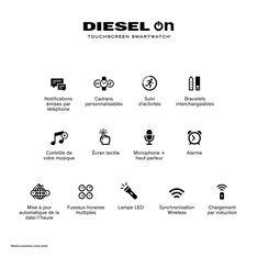 Montre Diesel Hybride Dzt1009