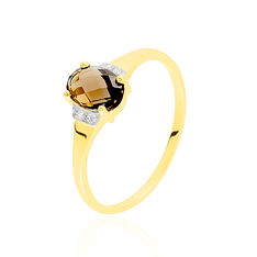 Bague Mathilde Or Jaune Quartz Fume