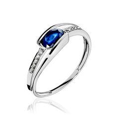 Bague Or Blanc Saphir Et Diamants