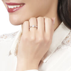 Bague Or Blanc Celia Multipierre Diamant