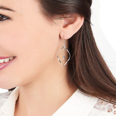 Boucles D'Oreilles Sabine Argent - Boucles d'oreilles Pendantes Femme | Marc Orian