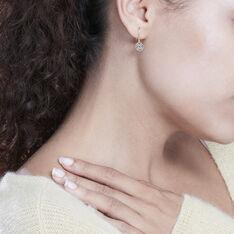 Boucles D'Oreilles Or Jaune Ammara Pastille - Boucles d'oreilles Pendantes Femme | Marc Orian