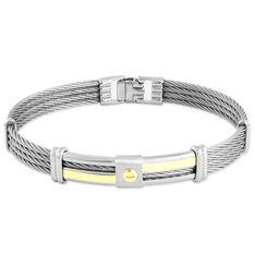 Bracelet Acier Et Or - Bracelets chaînes Homme | Marc Orian